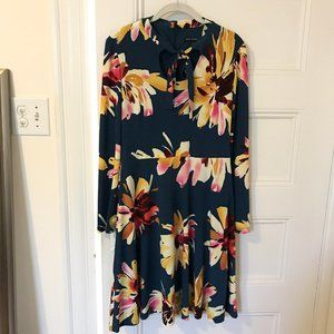 Maggy London Floral Bow Neck Dress